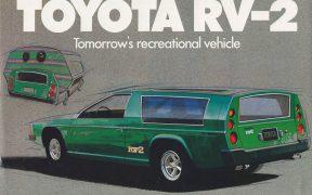 Toyota RV-2 - sportowy kamper Toyoty